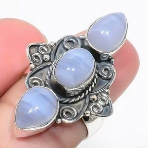 Jewelry - Namibian Blue Lace Agate 925 Ring